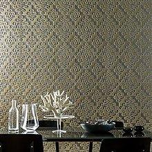 Designer Taupe Twist Wallpaper