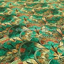 Designer Teal Mosaic Theme New Pattern Velour