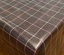 DESIGNERS247 PVC Table Cloth Black And Pink Check