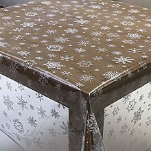 Designers247 PVC Tablecloth Clear Plastic