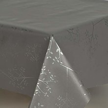 Designers247 PVC Vinyl Table Cloth Charcoal Grey