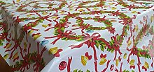 Designers247 PVC Vinyl Table Cloth Christmas