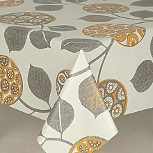 Designers247 PVC Vinyl Table Cloth Off White Grey