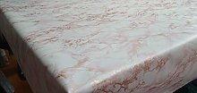 Designers247 PVC Vinyl Table Cloth Pink Rose Gold