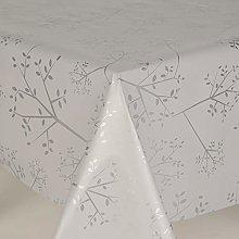 Designers247 PVC Vinyl Table Cloth Plain Silver