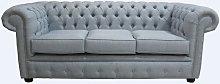 DesignerSofas4U | Buy Sky Blue linen Chesterfield