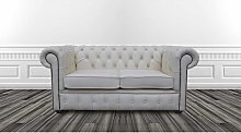 DesignerSofas4U | Buy white leather Chesterfield