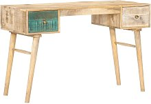 Desk 118x50x75 cm Solid Mango Wood - Brown - Vidaxl