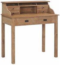 Desk 90x50x100 cm Solid Teak Wood - Brown - Vidaxl