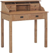 Desk 90x50x100 cm Solid Teak Wood - Hommoo