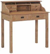 Desk 90x50x100 cm Solid Teak Wood