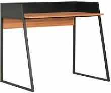 Desk Black and Brown 90x60x88 cm
