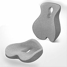 Desk Chair CushionMemory Foam Lumbar Support Back
