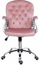 Desk chair for Home,Velvet Pink Home Office Chair