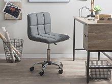 Desk Chair Grey Swivel Adjustable Height Metal Leg