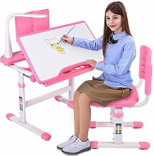 Desk Chair Pink, Kids Desk and Chair Set Ergonomic
