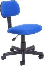 Desk Chair Symple Stuff Colour (Upholstery): Blue