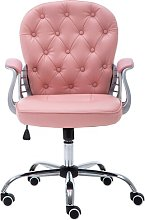 Desk Chair Symple Stuff Colour (Upholstery): Pink