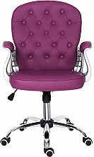 Desk Chair with Armrest,Leather Office Chair