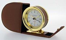 Desk Clock Happy Larry Case Colour: Brown