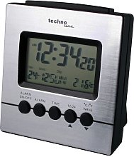 Desk Clock Technoline Colour: Aluminium