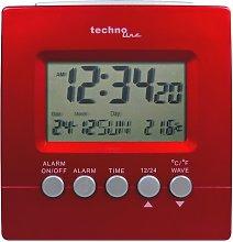 Desk Clock Technoline Colour: Metallic Red