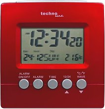 Desk Clock Technoline Colour: Metallic Red