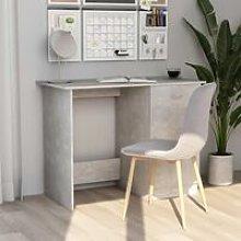 Desk Concrete Grey 100x50x76 cm Chipboard