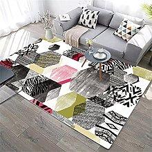 Desk Decor Rugs For Bedroom Pink golden black gray