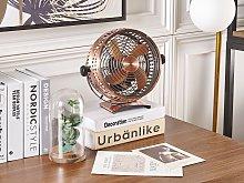 Desk Fan Copper Metal Iron Speed Control Portable