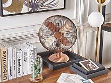 Desk Fan Metal Copper 3-Speed Modes Living Room
