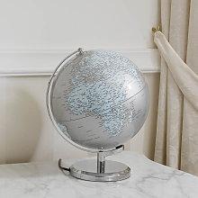 Desk Globe Plinio Luminous Globe Silver