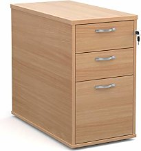 Desk high 3 drawer pedestal with silver handles