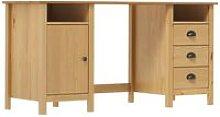 Desk Hill Range Honey Brown 150x50x74 cm Solid