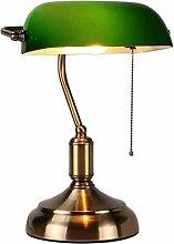 Desk Lamp / Bankers Lamp Antique Green Table Lamp