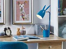 Desk Lamp Blue Metal Iron 42 cm Table Lamp Bunny