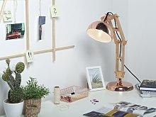 Desk Lamp Copper Light Wood Swing Adjustable Arm