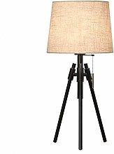 Desk Lamp E27 Light Fabric Shade Baking Paint