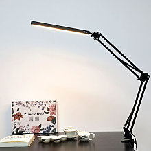 Desk Lamp LED with Clamp,Metal Swing Arm Reading