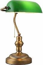 Desk lamp Retro Banker lamp Green Vintage Table