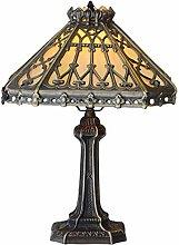 Desk Lamp,Yellow Hexagonal Glass Table