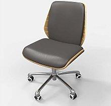 Desk Operator Chair Dark Grey PU Leather in Retro