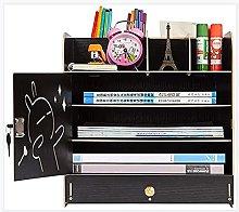 Desk Organiser with Lock File Sorter,