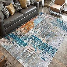 desk rug Blue and yellow carpets, crawling mats