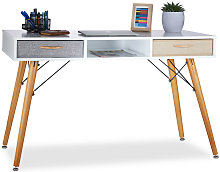 Desk, Scandinavian Design, 3 Compartments, 2