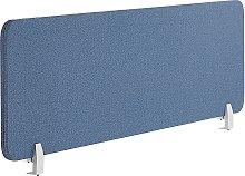 Desk Screen 130 x 40 cm Blue WALLY