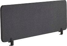 Desk Screen 130 x 40 cm Dark Grey WALLY