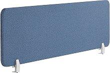 Desk Screen 160 x 40 cm Blue WALLY