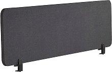 Desk Screen 160 x 40 cm Dark Grey WALLY