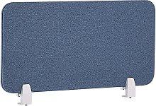 Desk Screen 80 x 40 cm Blue WALLY